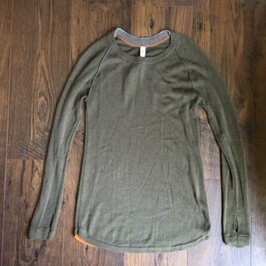 Lululemon Sit In Lotus Long Sleeve Olive Sweater